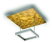 Knapstein LED-Deckenleuchte quadratisch gold