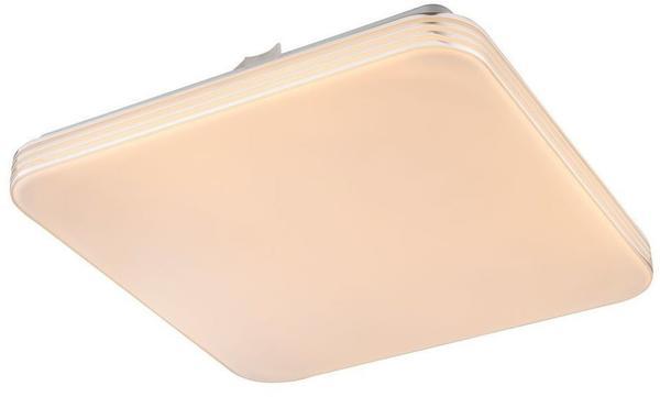 Globo Design LED Decken Leuchte Wohn Schlaf Zimmer Lampe quadratisch Energiespar Beleuchtung Globo 41743-12