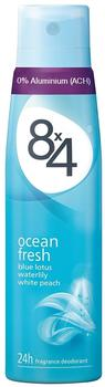 8x4 Ocean Fresh Deodorant Spray (150ml)