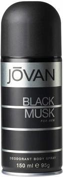 Jovan Black Musk Deodorant Spray (150 ml)