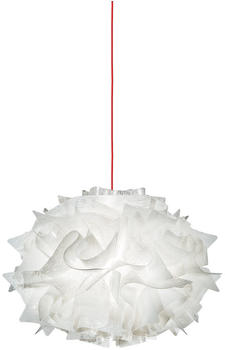 Slamp Veli Mini Single Couture Suspension rot weiß dekoriert