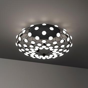 Luceplan Mesh LED Soffitto schwarz