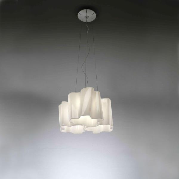 Artemide Logico Mini Sospensione 3x120° milchig weiß