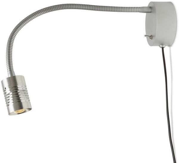 OLIGO Just A Little LED Wandleuchte mit Zuleitung Alu gebürstet chrom matt
