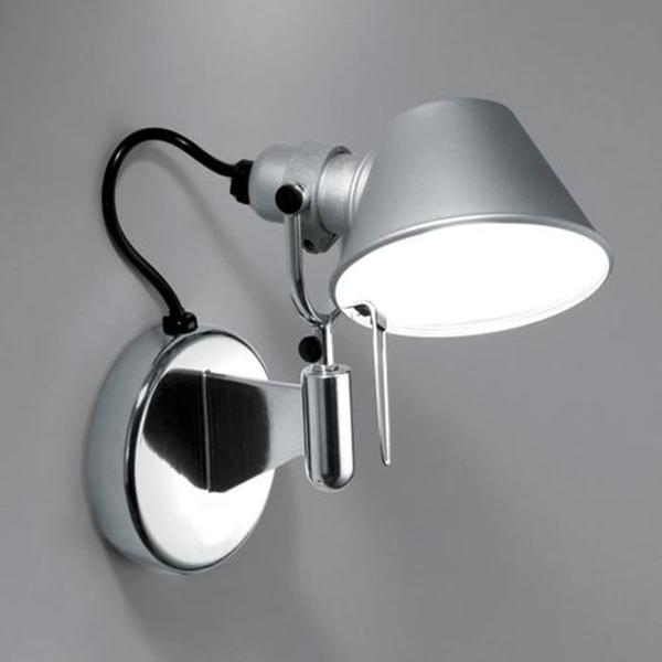 Artemide Tolomeo Micro Faretto LED 2700K ohne Schalter Aluminium