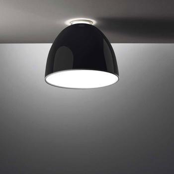 Artemide Nur Mini Gloss LED Soffitto schwarz glänzend