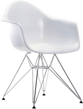 Vitra Eames Plastic Armchair DAR weiß