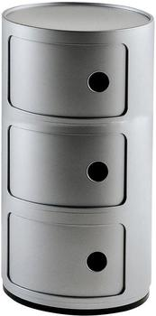 Kartell Componibili 3 Elemente silber (4967SI)