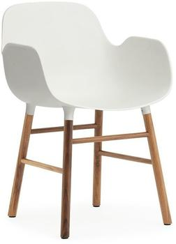Normann Copenhagen Form Armchair white/walnut