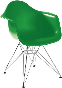 Vitra Eames Plastic Armchair DAR classic green