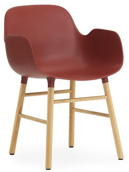 Normann Copenhagen Form Armchair red/oak