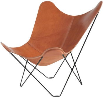 Cuero Design Leather Butterfly Chair Pampa Mariposa Polo/ Gestell schwarz