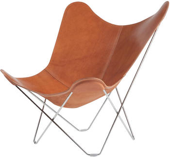 Cuero Design Leather Butterfly Chair Pampa Mariposa Polo/ Gestell chrom