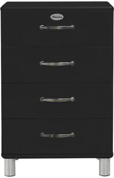 Tenzo Malibu 4 Schubladen schwarz (5116-033)