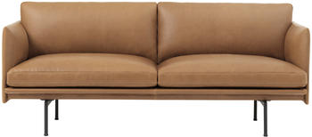 Muuto Outline 2-Sitzer Silk Leather (cognac)