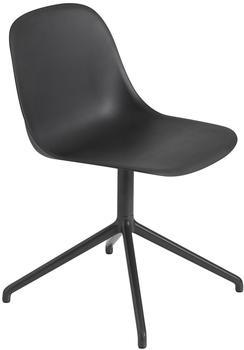 Muuto Fiber Swivel base without return Side Chair schwarz