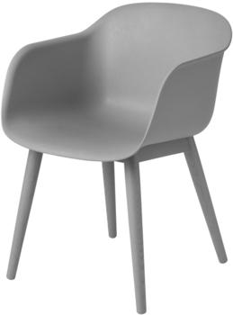 Muuto Fiber Wood Base grau