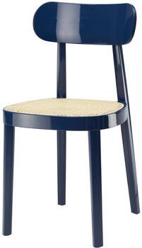 Thonet Stuhl 118 Rohrgeflecht dunkelblau