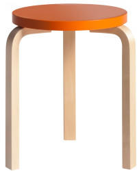 Artek artek Hocker 60 Sitz orange Beine Birke natur