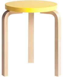 Artek artek Hocker 60 Sitz gelb Beine Birke natur