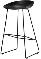 Hay HAY About a Stool AAS38 85cm Gestell schwarz/Sitzschale schwarz