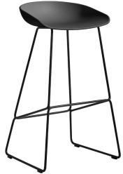 Hay HAY About A Stool AAS38 75cm Gestell schwarz Sitzschale Soft Black
