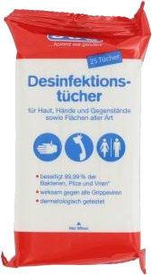 SOS Desinfektionstücher (25 Stk.)