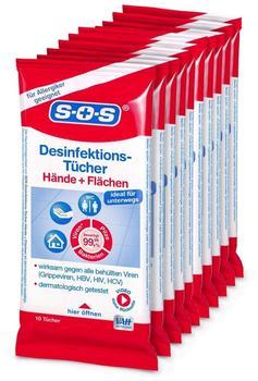 SOS Desinfektionstücher (10 Stk.)