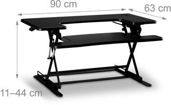 Relaxdays Sitz-Steh-Schreibtischaufsatz
