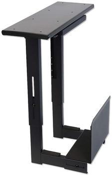 Lindy PC-Halterung für Untertischmontag, ausziehbar und drehbar schwarz (40284)