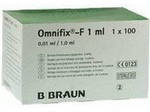 B. Braun Omnifix F solo Spritzen (100 x 1 ml)