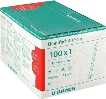 B. Braun Omnifix Solo 40 Insulin Einmalspritzen (100 x 1 ml)