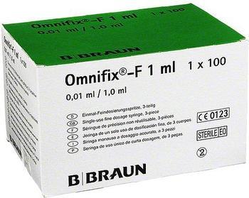 B. Braun Omnifix F Duo 25Gx5/8 latexfrei Spritzen (100 x 1 ml)