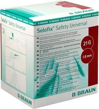 B. Braun Solofix Safety Univers.Lanzet.21G 1,8 mm Stichl. (200 Stk.)