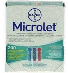 Bayer Microlet Lanzetten farbig (200 Stk.)