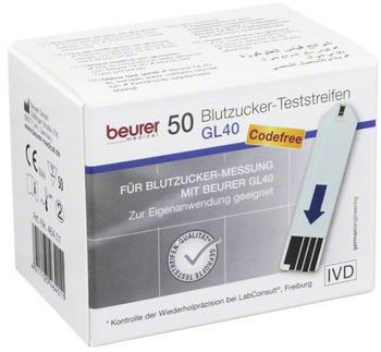 Beurer GL 40 Blutzuckerteststreifen (50 Stk.)