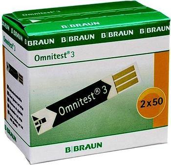 B. Braun Omnitest 3 Blutzuckersensoren (2 x 50 Stk.)