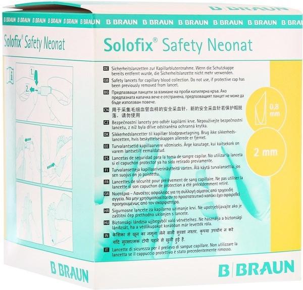 B. Braun Solofix Safety Neonat Lanzetten 0,8 x 2,0 mm (200 Stk.)