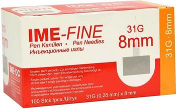 IME-DC Ime Fine Universal 31G / 8 mm Pen Kanülen (100 Stk.)