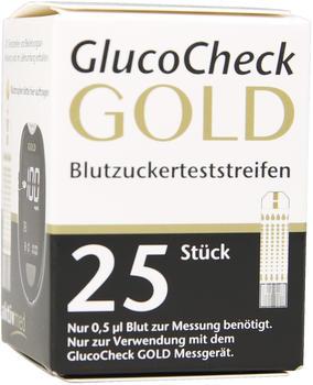 Aktivmed GlucoCheck Gold Blutzuckerteststreifen (25 Stk.)