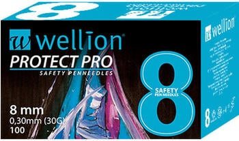 Wellion Protect Pro Safety Pen-needles 30G 8 mm (100 Stk.)
