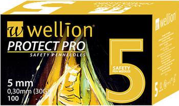Wellion Protect Pro Safety Pen-needles 30G 5 mm (100 Stk.)