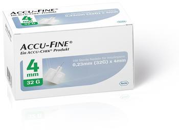 Roche Accu Fine sterile Nadeln für Insulinpens 4 mm 32G (100 Stk.)