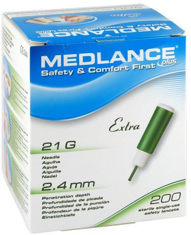 EU-Medical Medlance Plus Extra Sicherheitslanzetten 21G (200 Stk.)