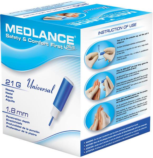 EU-Medical Medlance Plus Universal Sicherheitslanzetten (200 Stk.)