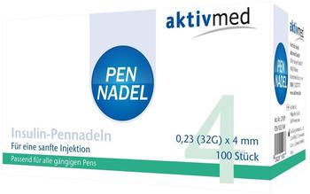 Aktivmed Pen Nadeln Universal 0,23x4 mm 32G (100 Stk.)