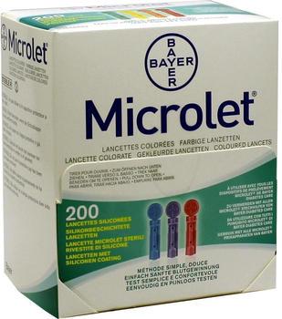 Eurim-Pharm Microlet Lanzetten farbig (200 Stk.)