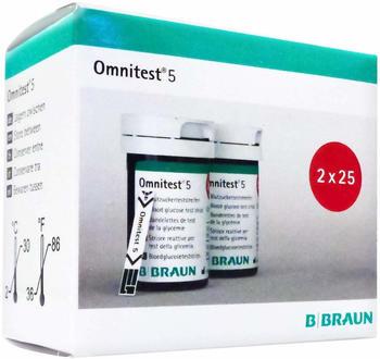 B. Braun Omnitest 5 Blutzuckerteststreifen (2x 25 Stk.)