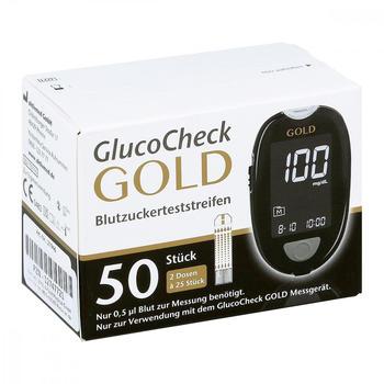 1001 Artikel Medical Gluco Check Gold Blutzuckerteststreifen (50 Stk.)