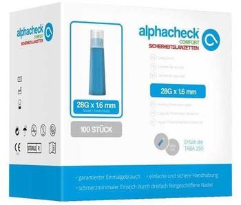 Berger Med Alphacheck Comfort Sicherheitslanzetten 28G x 1,6 mm (100 Stk.)